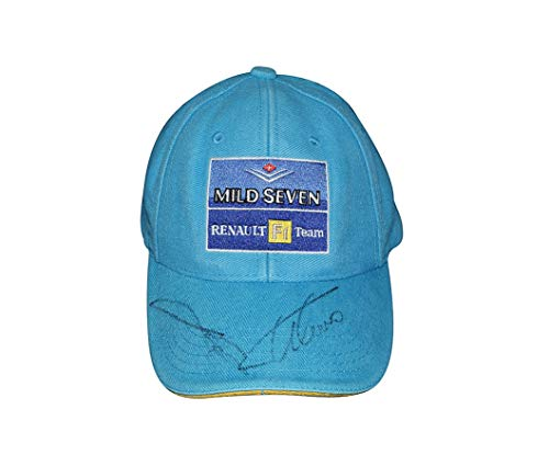 2X AUTOGRAPHED Fernando Alonso & Jarno Trulli 2003 MILD SEVEN F1 TEAM (Renault Racing) Signed Collectible Formula 1 Racing Cap/Hat with COA