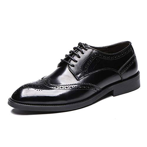 US Cordones Negro 5 5 para Talla de de HhGold Ocasionales Cuero 7 8 Zapatos Zapatos UK Brogue Acentuados de en Hombres Color con Hombres Negocios Negro Boda Hombre Baq4BHwxg