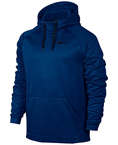 Nike Men's Therma Training Hoodie Blue Black Size Large (L)