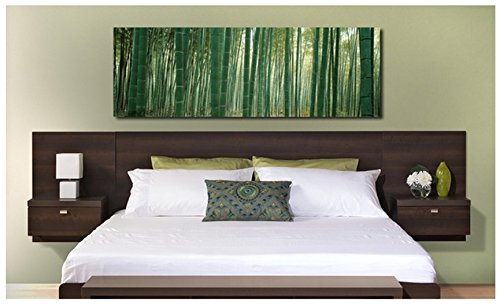 Valhalla Designer - King Platform Floating King Bed Headboard with Integrated Nightstands New Set King for big King Furniture in your Bedroom Suite nice Sale King and Cheap King Bed California style set. (Expresso) (Cheap Furniture Sales)