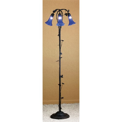 Blue Pond Lily Floor Lamp (Pond Lily Floor Lamp)
