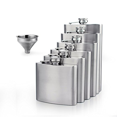Stainless Steel 10oz Alcohol Flask - 7