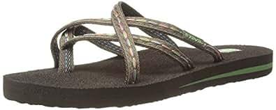 Teva Women's Olowahu Flip-Flop (6 B(M) US / 37 EUR, Felicitas Brown)