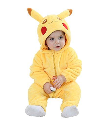 Tobeauty Halloween Animal Costume For Kids Unisex Baby Warm Jumpsuit Pikachu (Pikachu Halloween Costume Baby)