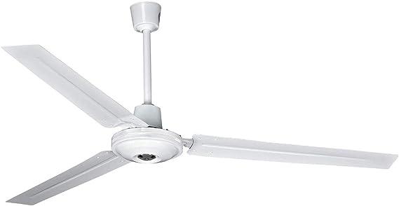 Ventilador de Techo con 5 velocidades de Intensidad (regulador de Pared) - Ventilador Blanco de 140 cm de diámetro 65w - 3 aspas: Amazon.es: Hogar