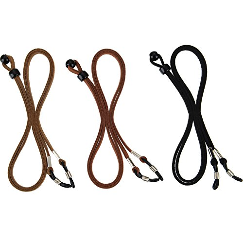 eBoot Eyeglass Strap PU Leather Eyeglass Strap Eyeglass Cords Retainer, 3 ()