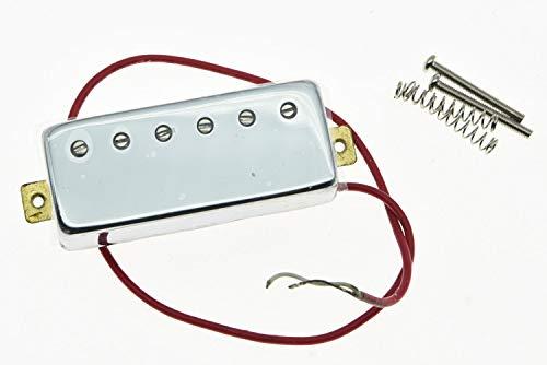 FidgetGear Chrome LP Guitar Mini Humbucker Neck Pickup 6.5K Ceramic Pickups for Les Paul - Les Paul Mini Humbucker