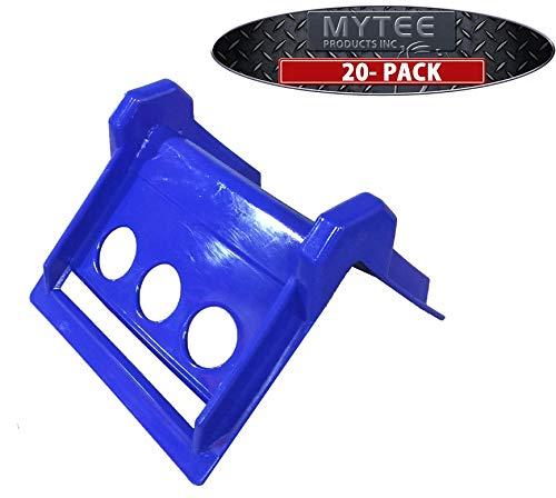 (20 Pack) Plastic Corner Protectors 2-4 Inch Winch Ratchet Straps Flatbed