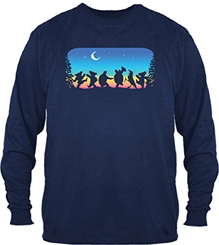 Grateful Dead Moondance Solid Long Sleeve Shirt by Dye The Sky (XX-:Large) Navy
