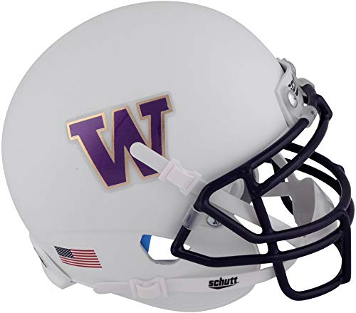 - Sports Memorabilia Washington Huskies Schutt White Mini Football Helmet - College Mini Helmets