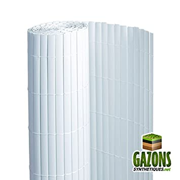 Canisse PVC Blanc Double Face 1.2 x 3 m FRANCE GREEN