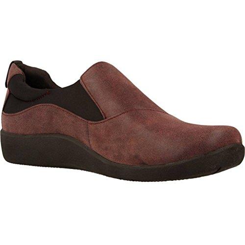 Casuales De Sillian Mujer Berenjena Zapatos Clarks Paz 7dwqF85