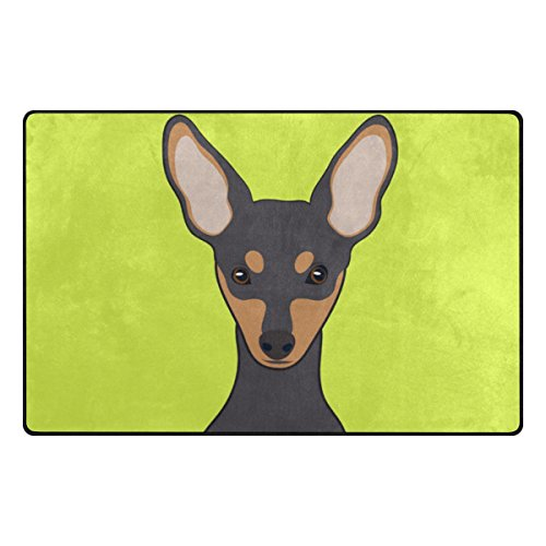 My Daily Miniature Pinscher Dog Area Rug 3'3'' x 5', Living Room Bedroom Kitchen Decorative Unique Lightweight Printed Rugs by ALAZA
