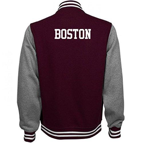 Boston Comfy Sports Fan Gear: Unisex Fleece Letterman - Varsity Jacket Soccer