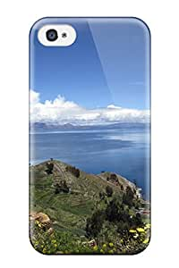 Top Quality Rugged Titicaca Lake Case Cover For Iphone 4/4s