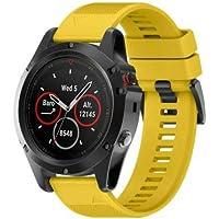 FidgetKute - Correa de Silicona para Reloj Garmin Fenix 5, 5X y 5S