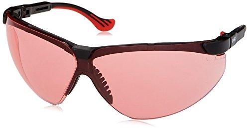 Glasses Safety Xc Frame Uvex - Uvex S3311X Genesis XC Safety Eyewear, Black Frame, SCT-Vermillion UV Extreme Anti-Fog Lens