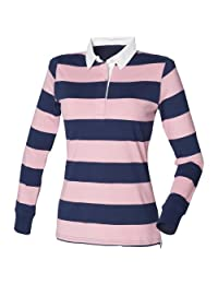 Front Row Womens/Ladies Striped Rugby Polo Shirt
