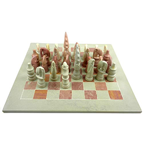 - Smolart Hand Carved Soapstone Animal Chess Set - 15