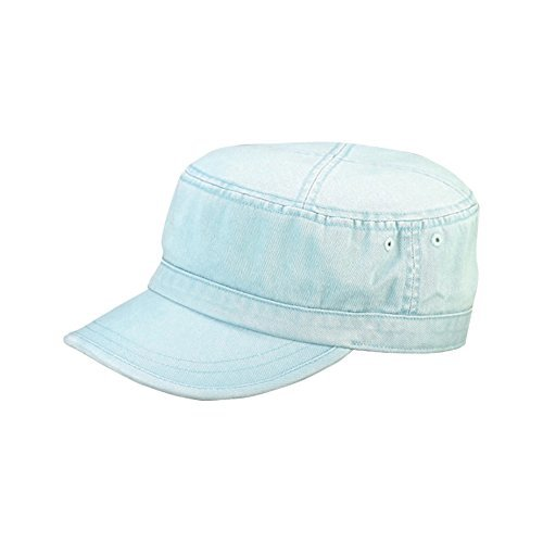 MG Wholesale Enzyme Washed Cotton Army Cadet Castro Hats (Light Blue) - 20772