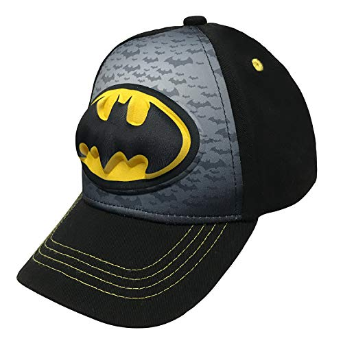 (Batman-Logo Boys Flat Bill Snap Back Baseball Hat, Youth)