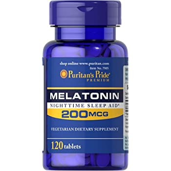 Puritans Pride Melatonin 200 mcg-120 Tablets