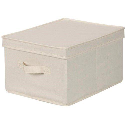 Household Essentials Large Organization Storage Box, Natural Canvas