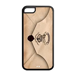 Harry Potter Envelope Quotes Design Black Sides PC Case Protective Case For Iphone 6 Plus (5.5 Inch) Cover iphone5c-NY152