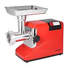 Homgeek Electric Meat Grinder Mincer Sausage Maker Household & Commercial Food Grinding Mincing Machine 3 Speed 1800W 2.6HP With 3 Blades