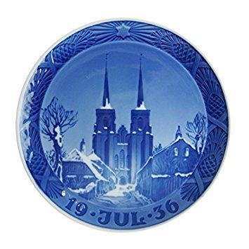 Royal Copenhagen (ROYAL COPENHAGEN) Year plate 1936 - Roskilde Cathedral - Concurrent goods -