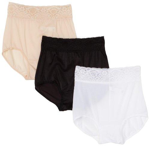 Bali Women's 3-Pack Lacy Skamp Brief Panties