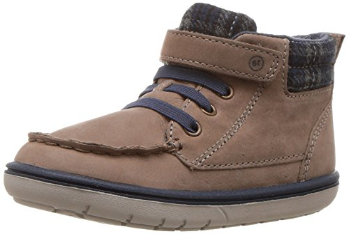 Stride Rite Boys' SRTech Langston Ankle Boot, Brown, 9 M US Toddler by Stride Rite