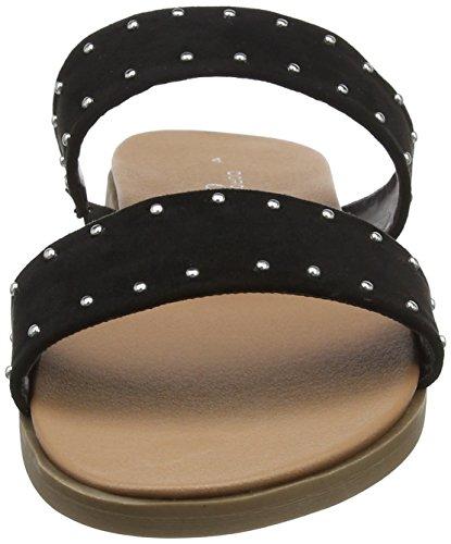 Farrel 130 Femme Bout Perkins Ouvert Dorothy Sandales Noir Sliders Black 7zSg5nqw