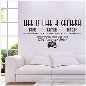 الحياة مثل ملصقات جدارية جديدة لغرفة الجلوس وغرفة النوم بكاميرا إنجليزية متعدد الالوان
