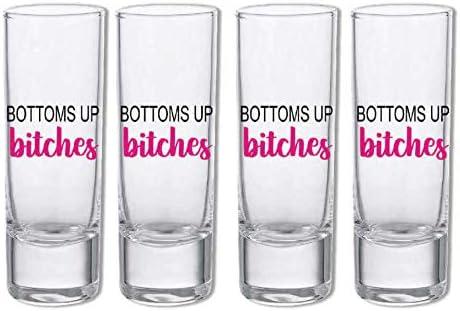 Myxx Bottoms Up Bitches Shot Glasses