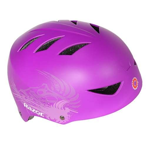 - Razor 2 Cool Youth Kids 8-14 Years Adjustable Bike Skate Scooter Helmet, Purple