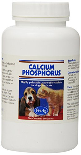 PetAg Calcium Phosphorus Tablets, 50-Count