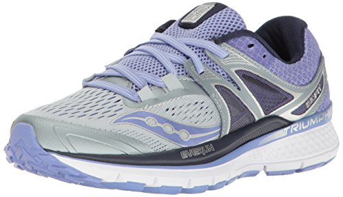 Saucony Women's Triumph ISO 3 Running Shoe, Grey Purple, 8.5 B(M) US (Saucony Type Womens)