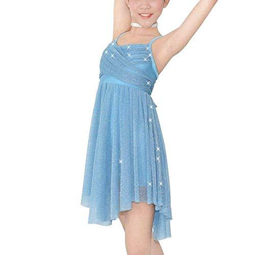 dPois Vestido Brillante de Danza Ballet Maillot Niña Tirante ...