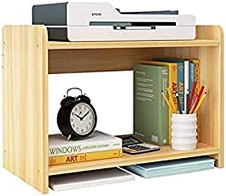 ストレージ付きプリンタースタンドシェルフ 2ティアプリンタDesktopは木材のコピーが簡単な多機能学生デスク小棚ストレージラックラックスタンド 家庭/オフィス用
