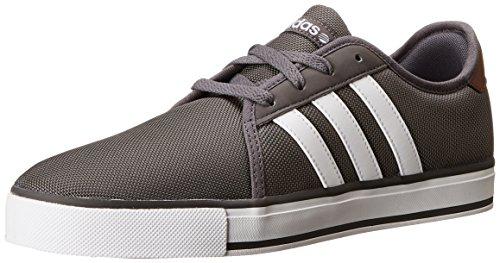Adidas NEO SK LVS Fashion Sneaker, Granite/White, 7 M US