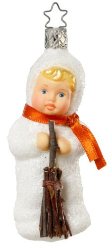 Inge Glas Girl Kinder of Preparation 1-039-11 German Glass Christmas Ornament