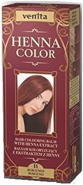 Henna Color 11 Borgoña Bálsamo Capilar Tinte Para Cabello Efecto De Color Tinte De Pelo Natural Gallina Eco