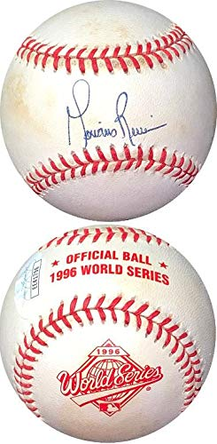 Autographed Mariano Rivera Ball - Rawlings Official 1996 World Series Logo minor tone spots #EE41796) - JSA Certified (New York Yankees World Series Championships 1999)