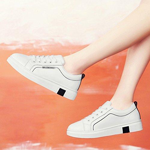 femelle sports forme plates taille 39 de des Couleur des White simples Black HWF d'étudiant Chaussures blanc green printemps de chaussures Chaussures occasionnels femmes femme plate White de chaussures q4RnwX764