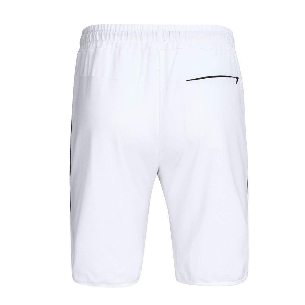 MNRIUOCII Sportshorts Herren Sweat Shorts Kurze Hose Bermuda Sweatpants Cargo Jogging Hose Freizeit Strandhosen Casual Shorts Mit Kordelzug Freizeithosen