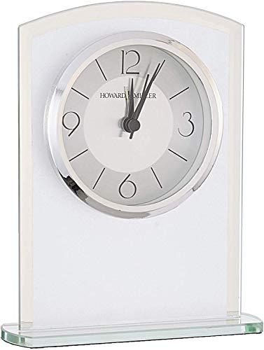 Howard Miller Glamour Table Clock 645-771 - Modern Glass with Quartz Alarm Movement