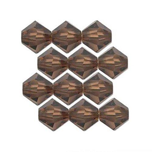 12 Smokey Topaz Bicone Made With Swarovski Crystal Beads 5301 3mm