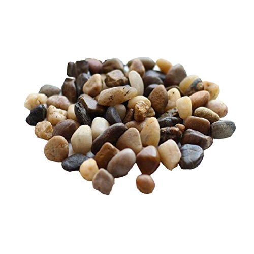 Amgate 1 LB Miniature Fairy Garden Decorative Pebbles River Rocks