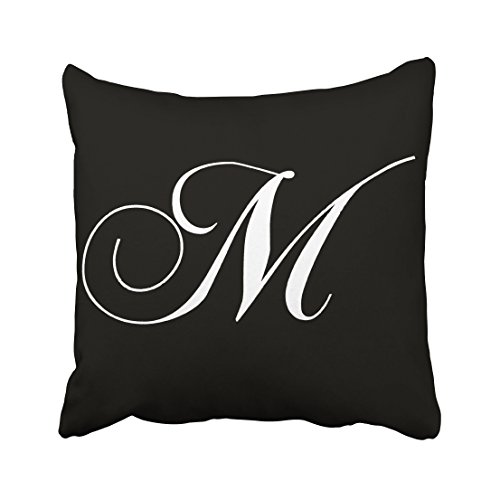Tarolo Decorative Black White Monogram M Designer Monogrammed Pillow Case Cotton Decorative Throw Pillow Case Decor Cushion Covers Size 18x18 inches(45x45cm) One - Symbols Designer Sunglasses